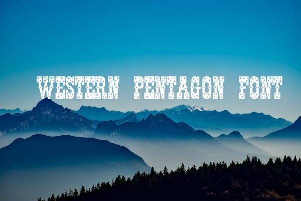 western pentagon font
