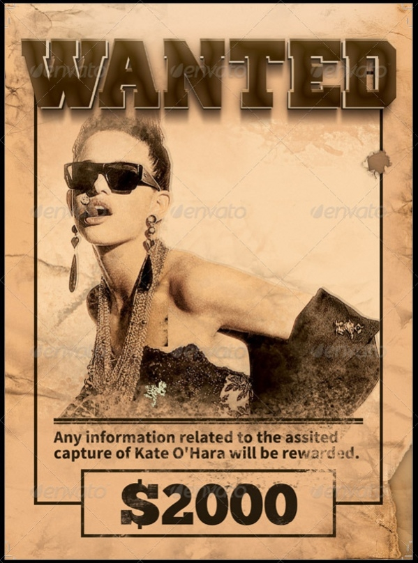 Western Style Wanted Poster