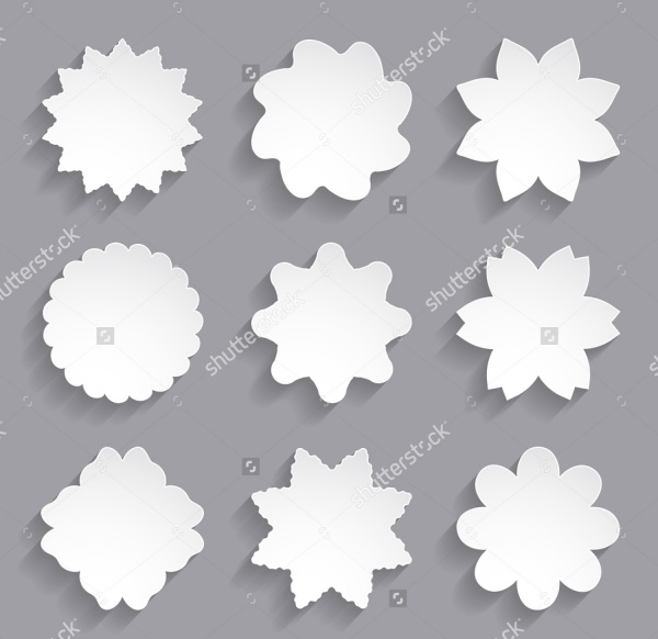 White Paper Flower Shapes