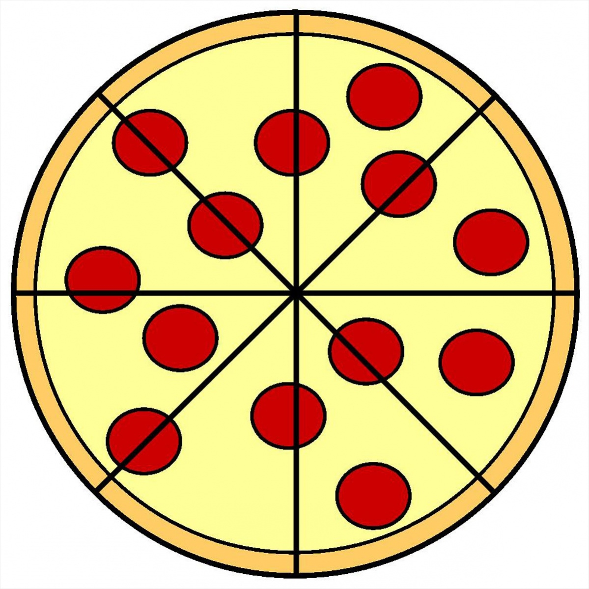Whole Pizza Clipart