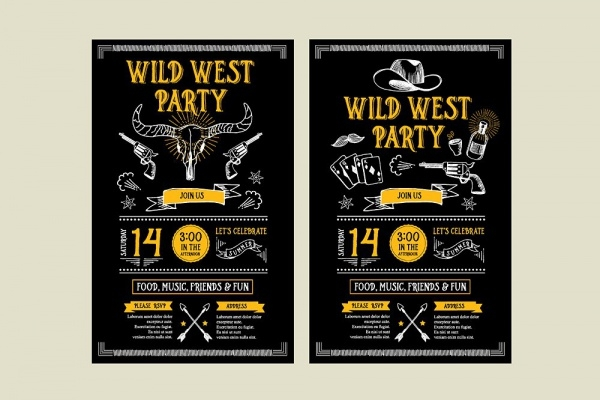 Wild West Party Invitation