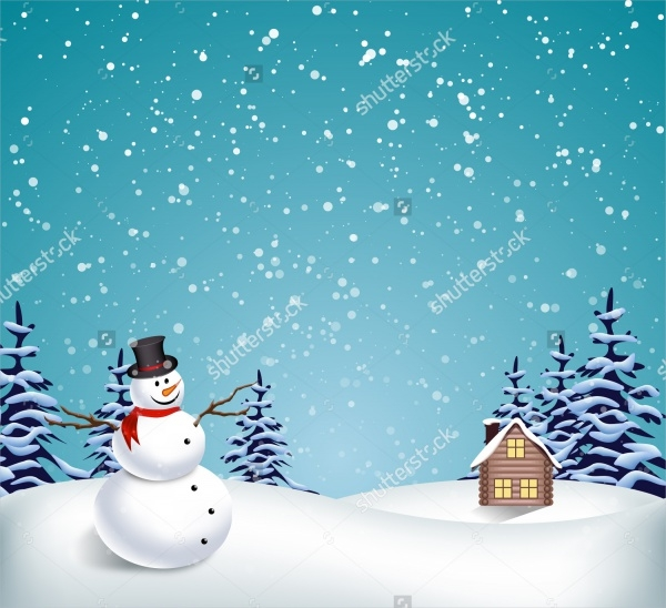 Winter Christmas PSD Background