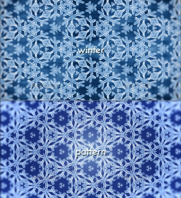 Winter Snowflake Pattern Background