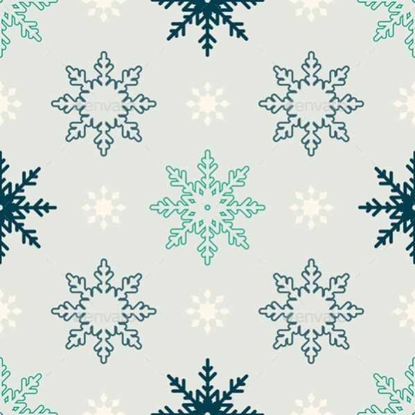Winter Snowflake Photoshop Pattern