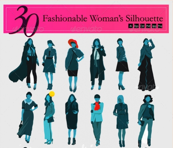 woman fashion silhouette