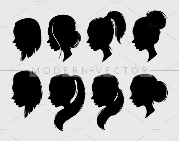 woman hair silhouette