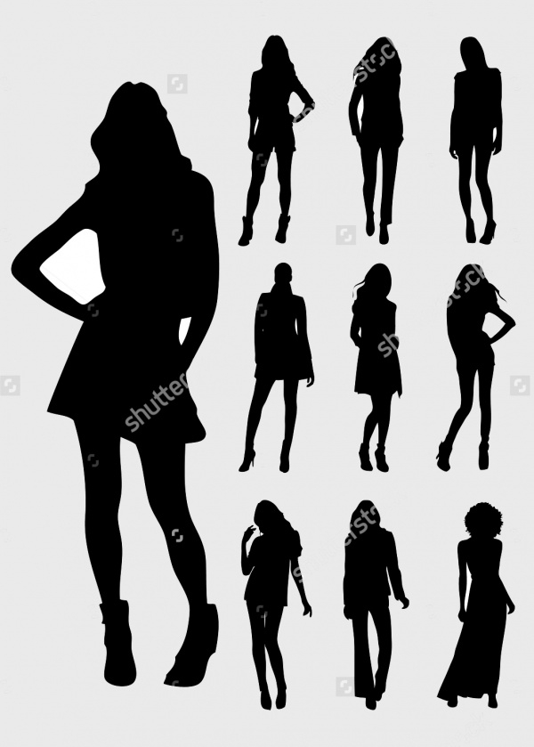 woman silhouette background
