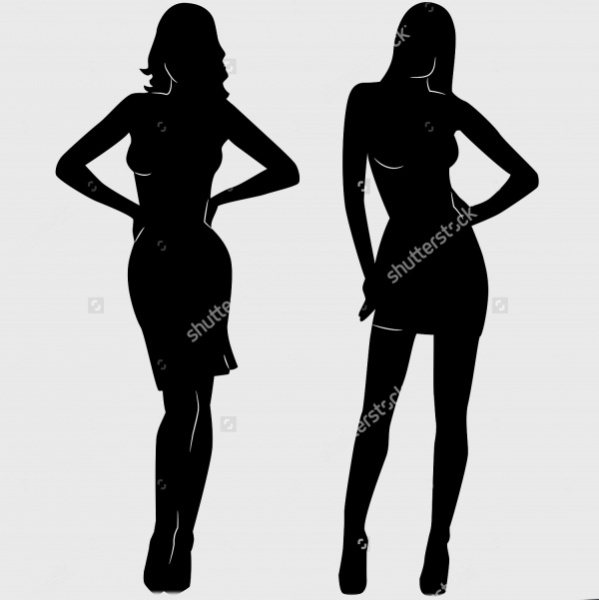 woman in dress silhouette 1