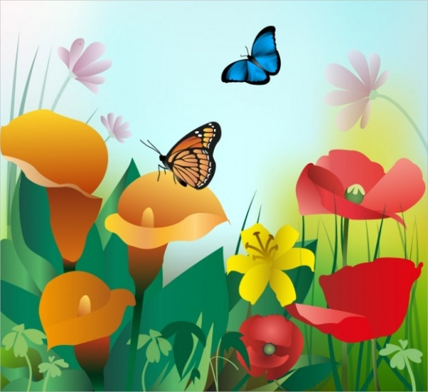 Wonderful Summer Flower Background
