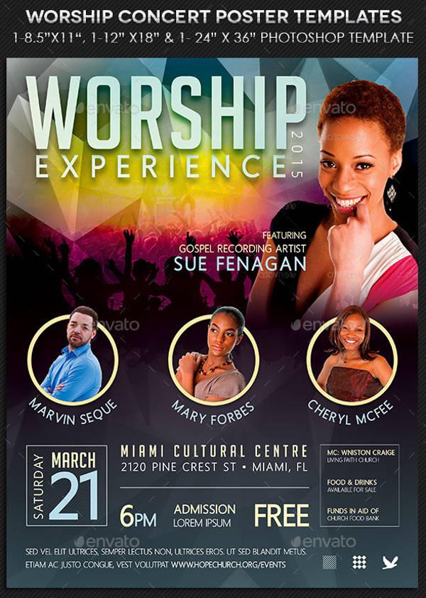 Worship Concert Poster
