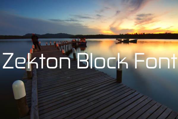 Zekton Block Font