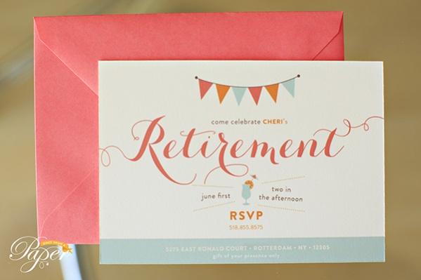 Simple & Classic Retirement Invitation
