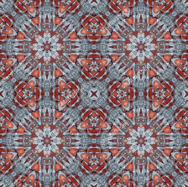 aged floor tiles brick pattern
