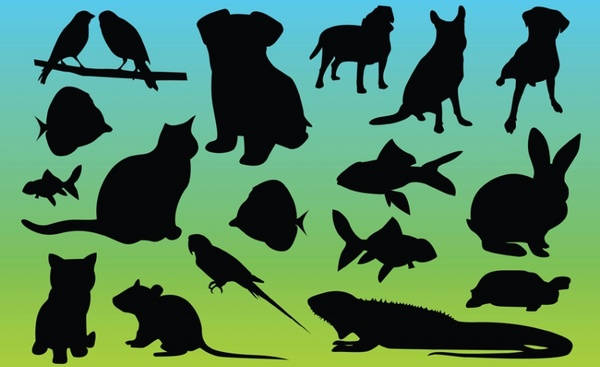animal silhouettes Graphic Vector Art