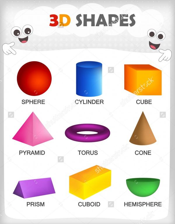 colorful 3D Shapes