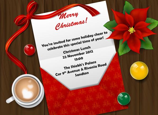 Christmas Lunch Invitation