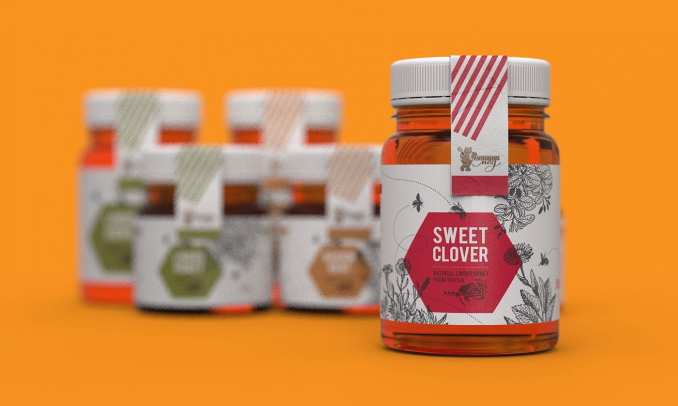 Honey Product Label Design
