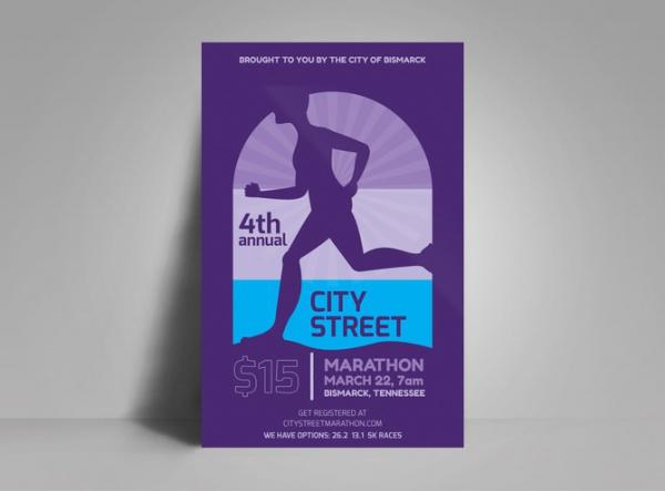 City Street Marathon Poster