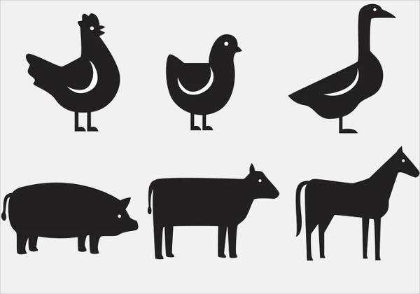 highly editable Animal Silhouettes