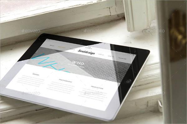 iPad Closeup Mockup