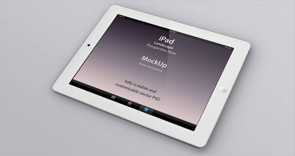 iPad Perspective Mockup