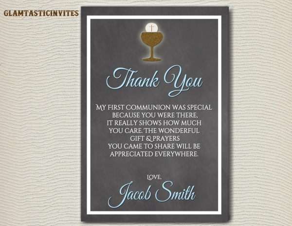 First Communion Thank You Printable