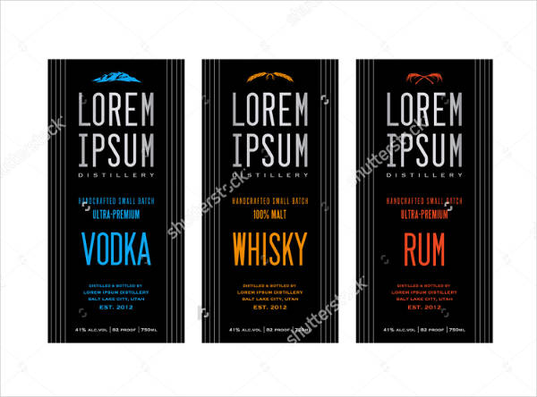 liquor bottle label designs