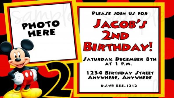 12 Mickey Mouse Birthday Invitations