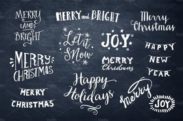 Christmas Overlays Typography