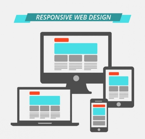 responsive Flat design graphics