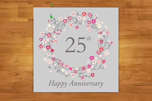 25th Anniversary Greetings