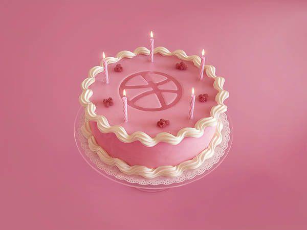 3D Birthday Cake Design