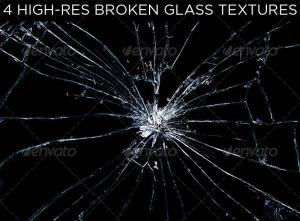 4 Broken Glass Texture