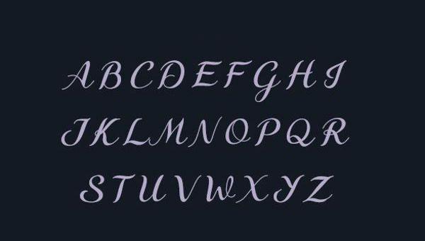 9 Fancy Cursive Letters