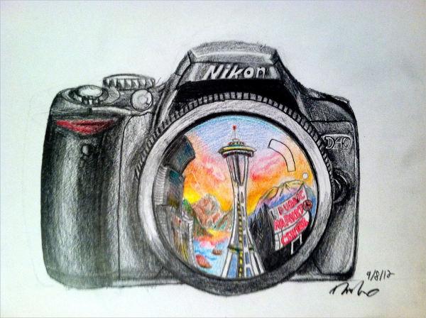 Abstract Camera Drawing