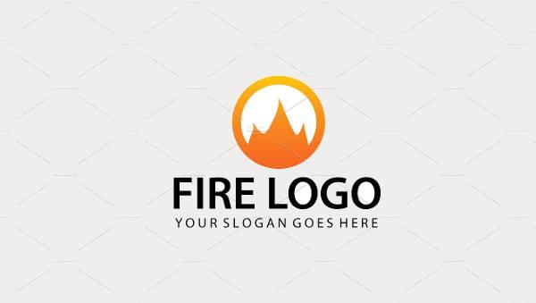 Abstract Fire Logo Design