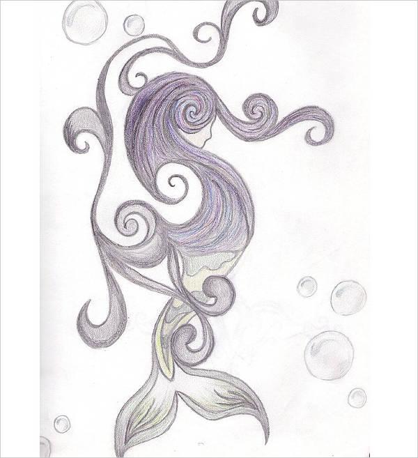 Abstract Mermaid Drawing