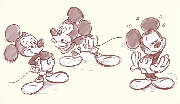 Abstract Mickey Mouse Drawing