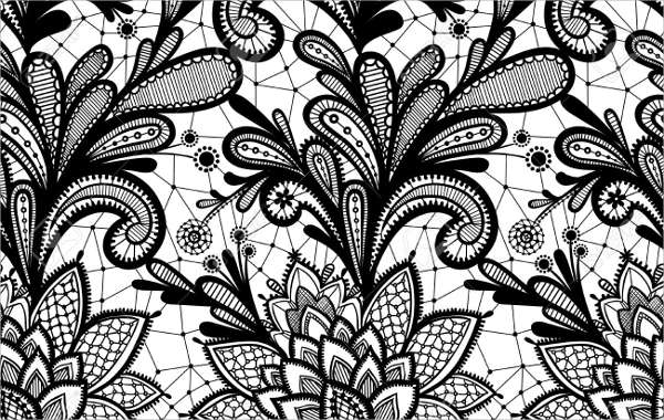 Abstract Ornamental Black Pattern