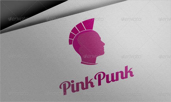 Abstract Pink Logo