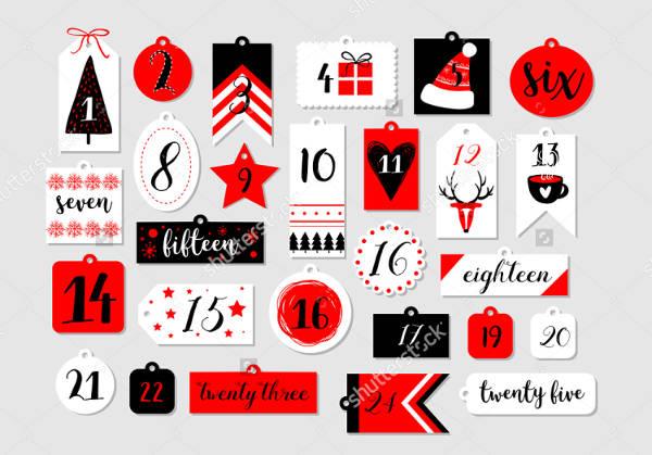 Abstract Printable Tag Design