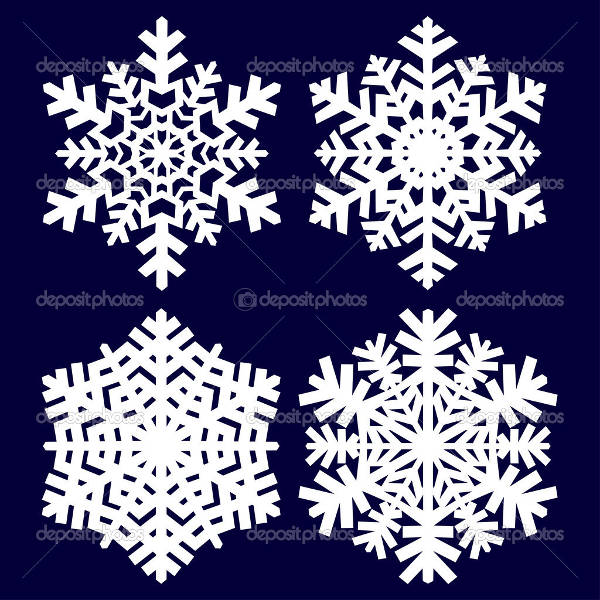Abstract Snowflake Vector
