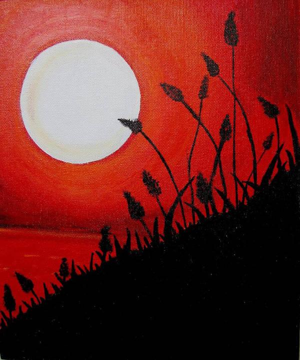 Acrylic Sunset Painting