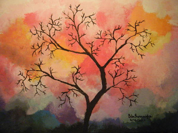 Acrylic Tree Painting
