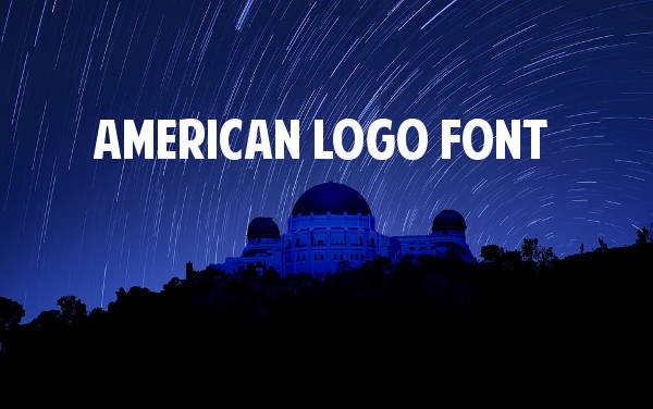 American Logo Font