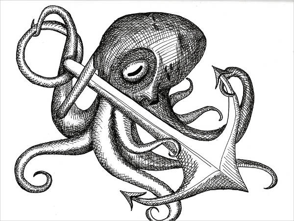 Anchor Drawing with Octopus
