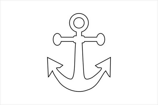 Anchor Outline Clip Art