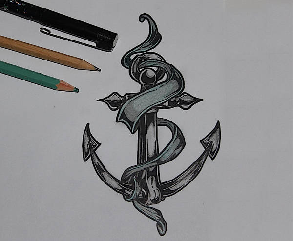 Anchor Tattoo Drawing
