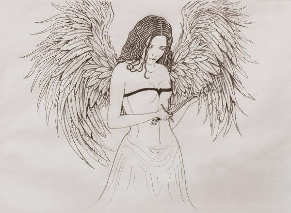 Angel Tattoo Drawings