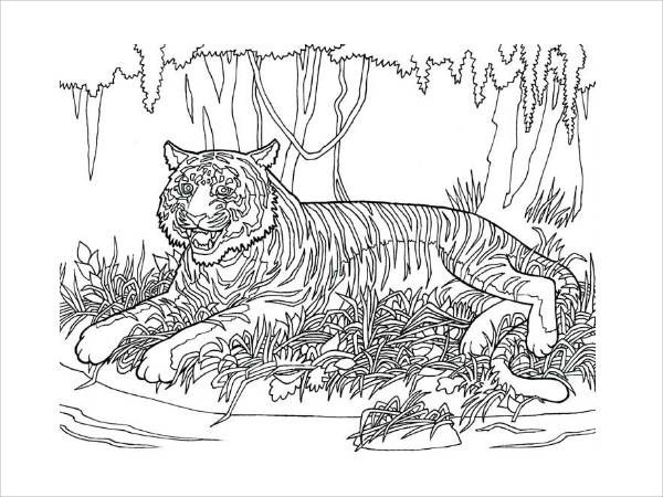 Animal Pattern Coloring Page